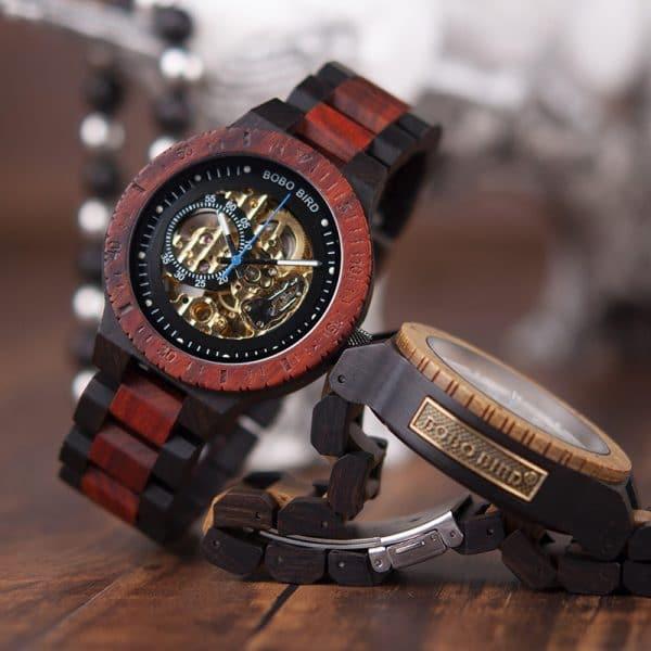 Automatic mechanical watch wood watch