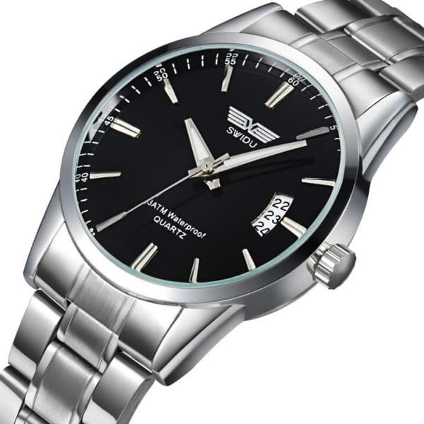 men's single day steel watches