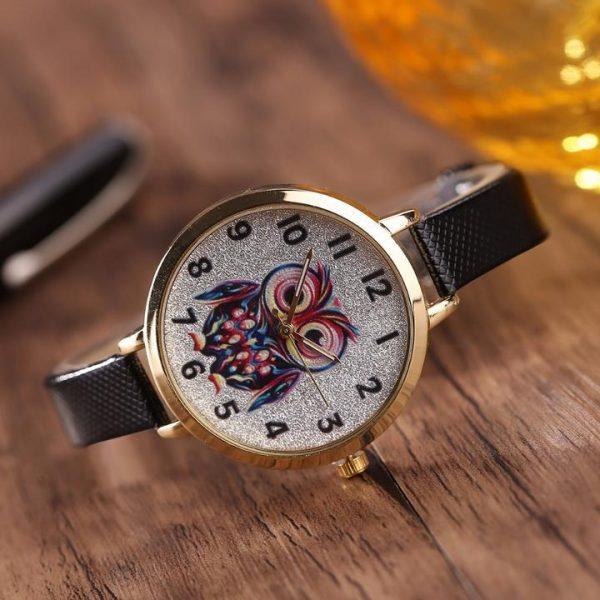 female model thin belt watch