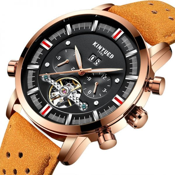 KINYUED Swiss brand men's leather strap