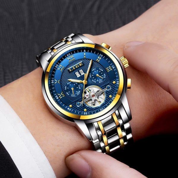 Automatic mechanical waterproof watch