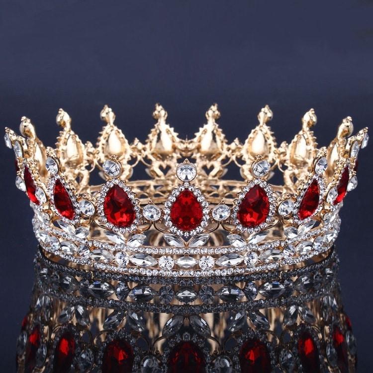 Baroque Bridal Crown Headdress