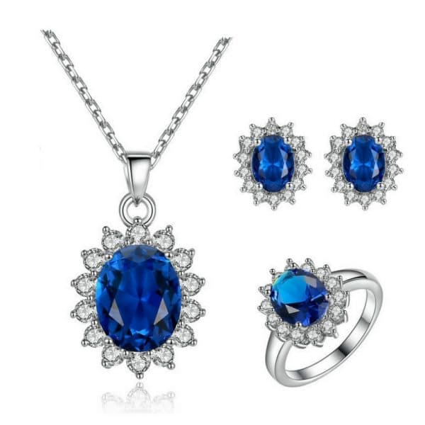 Kate's wedding party Blue Zircon Necklace