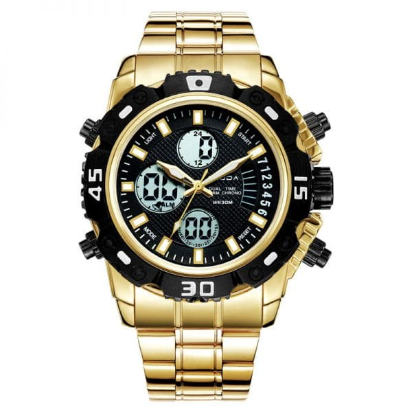 Electronic double display quartz watch
