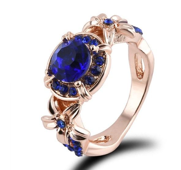 Gemstone Rose Engagement Ring