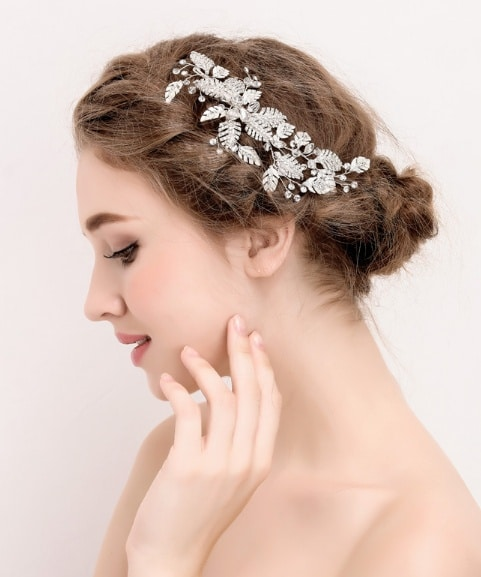J6100 bride dress hair
