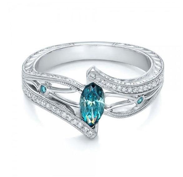 aquamarine topaz engagement ring