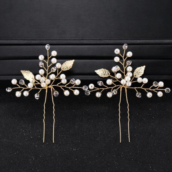 Simple New Bride Headdress Pearl