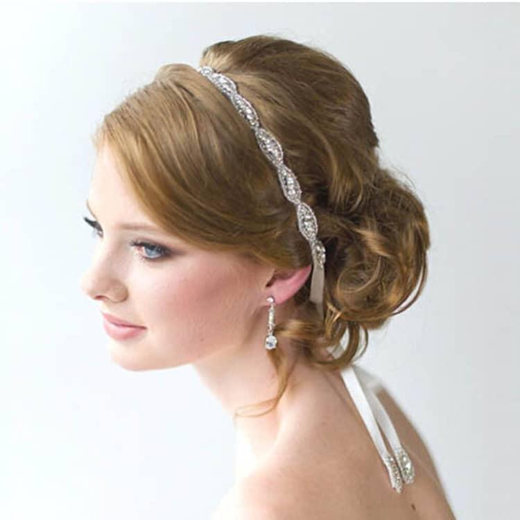 handmade crystal chaton bride hair band