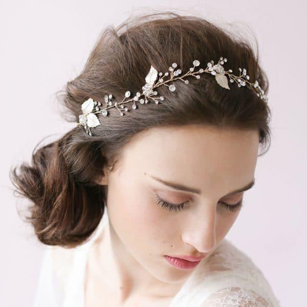 Handmade diamond crystal bride hair band