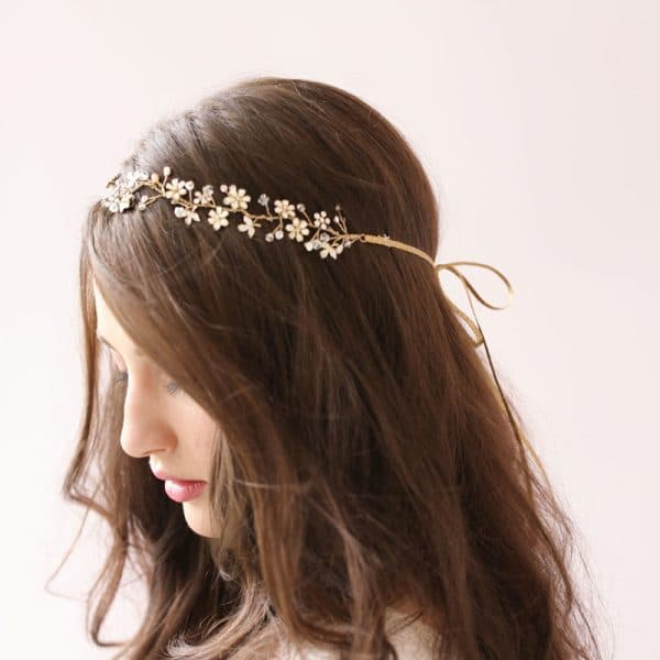 Fresh water pearl bridal hair ornament