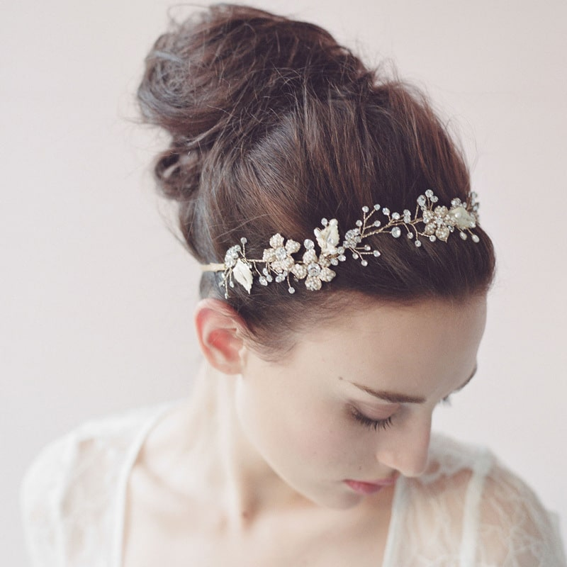 wedding bride Pearl crystal ornament