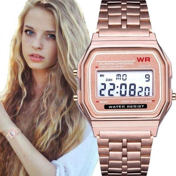 WR F91W Steel Band Electronic Watch