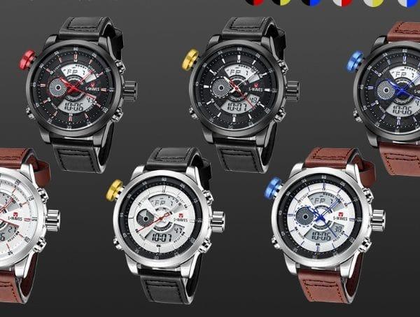 Trendy casual double men's watch