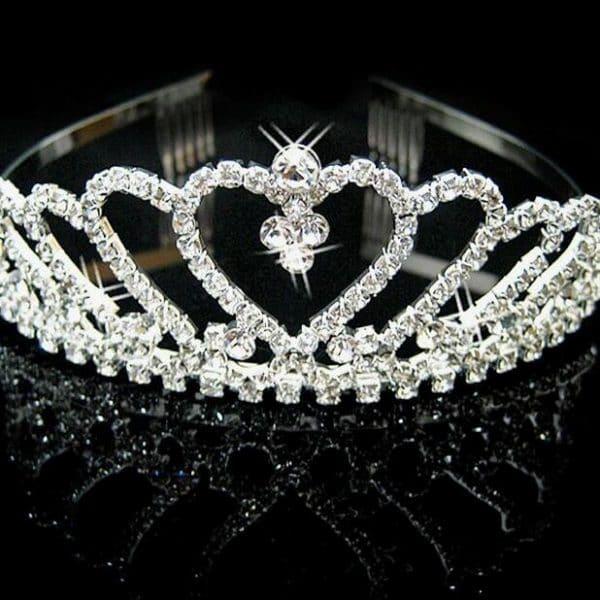 Princess crown hair pin bride