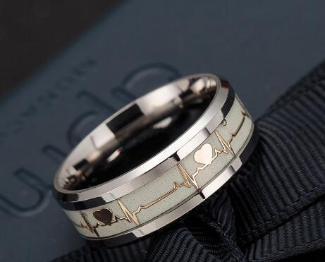 ECG Couple Carbon Fiber Ring