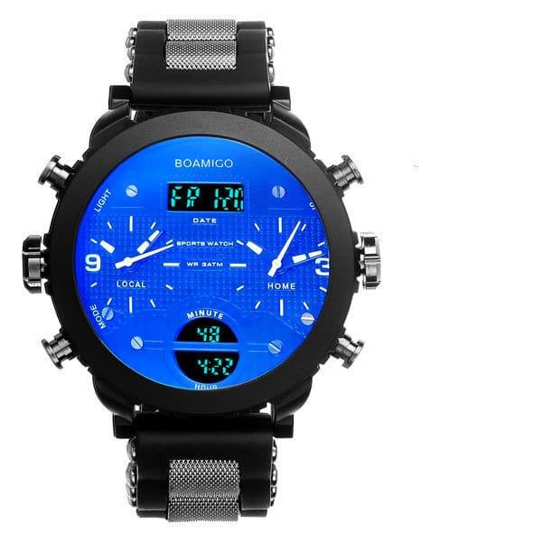 Men's watch electronic quartz double display