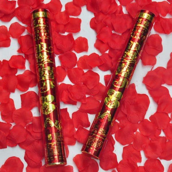 Wedding ceremonies romantic rose petals