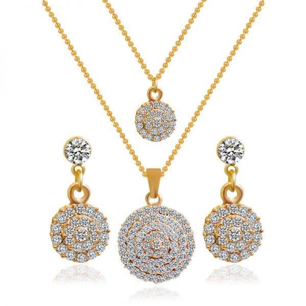 The bride jewelry two piece