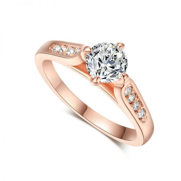 rose gold plated ring