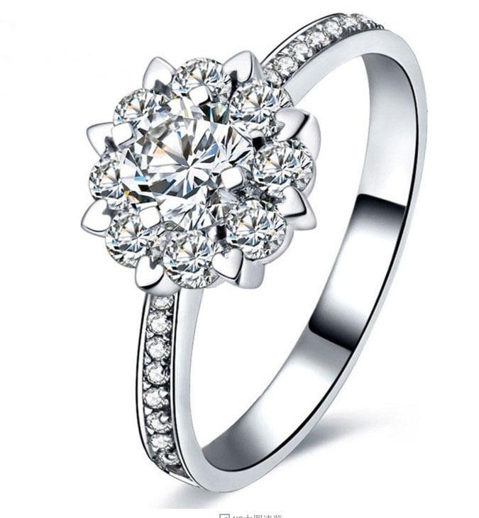 female proposal ring 18K gold