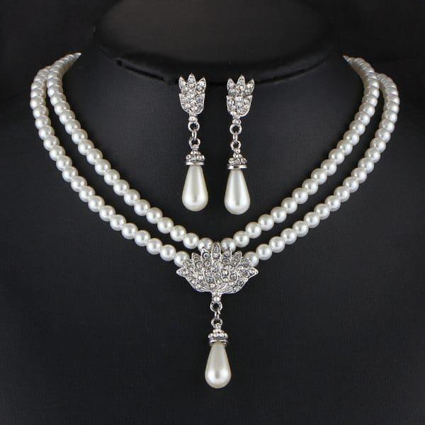 Jewelry Bridal Pearl Crystal Diamond