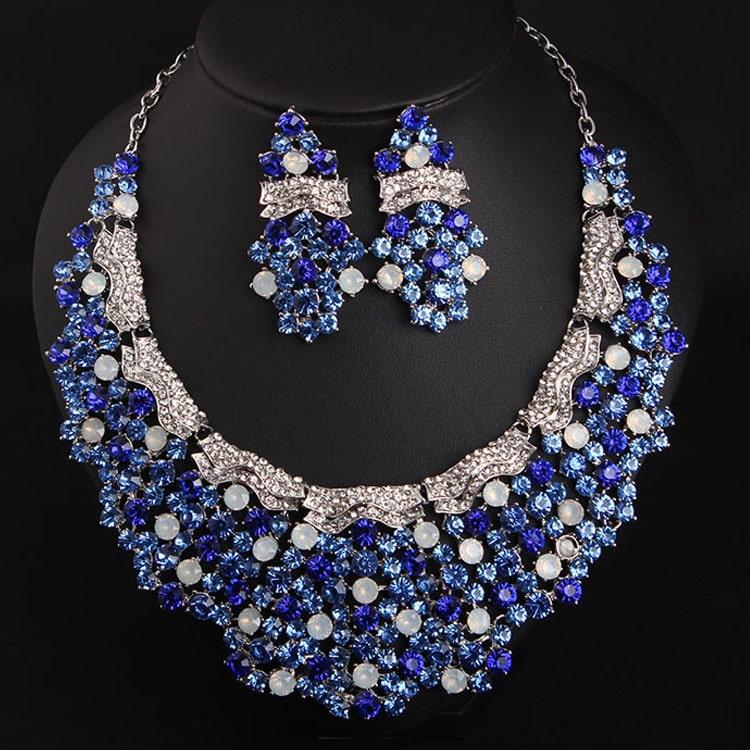 luxury diamond necklace earrings set