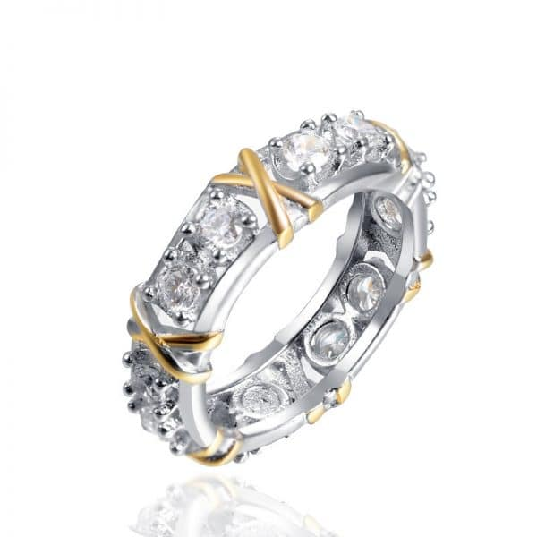 zircon two color x ring