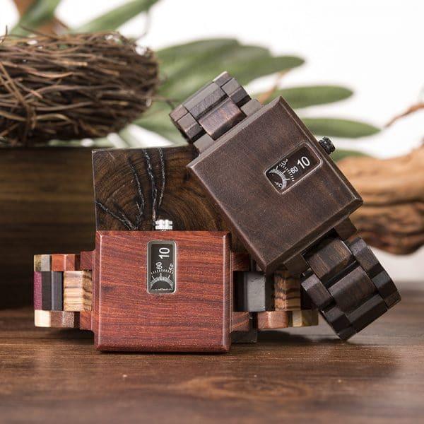BOBOBIRD new square creative wood watch