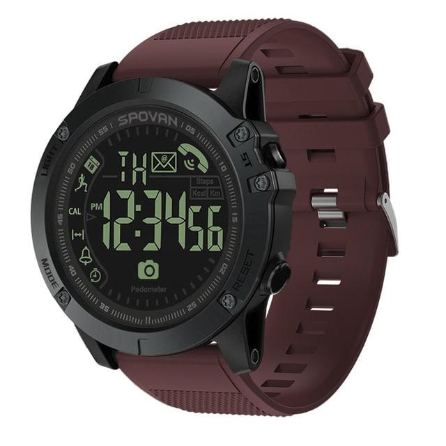 waterproof round electronic watch