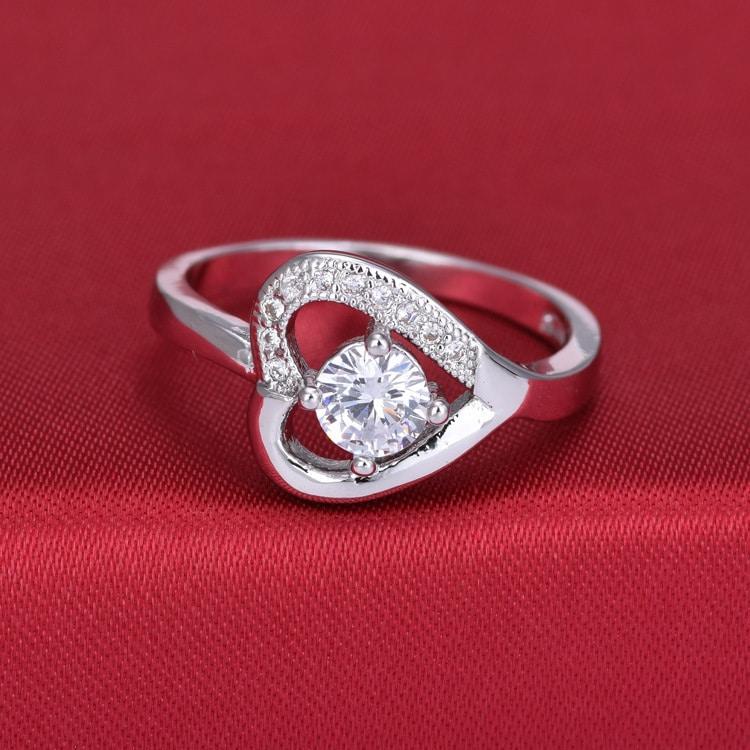 zircon heart rings