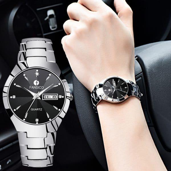 new tungsten Mens Watch dual calendar