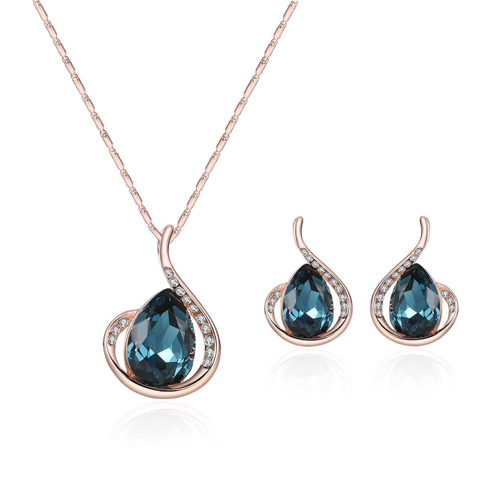 Diamond Crystal Necklace And Earrings