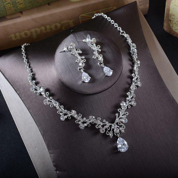 Korean bridal Rhinestone jewelry