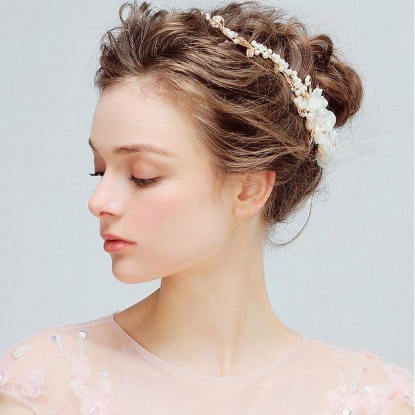 YG421 Europe Sweet Princess Pearl headdress