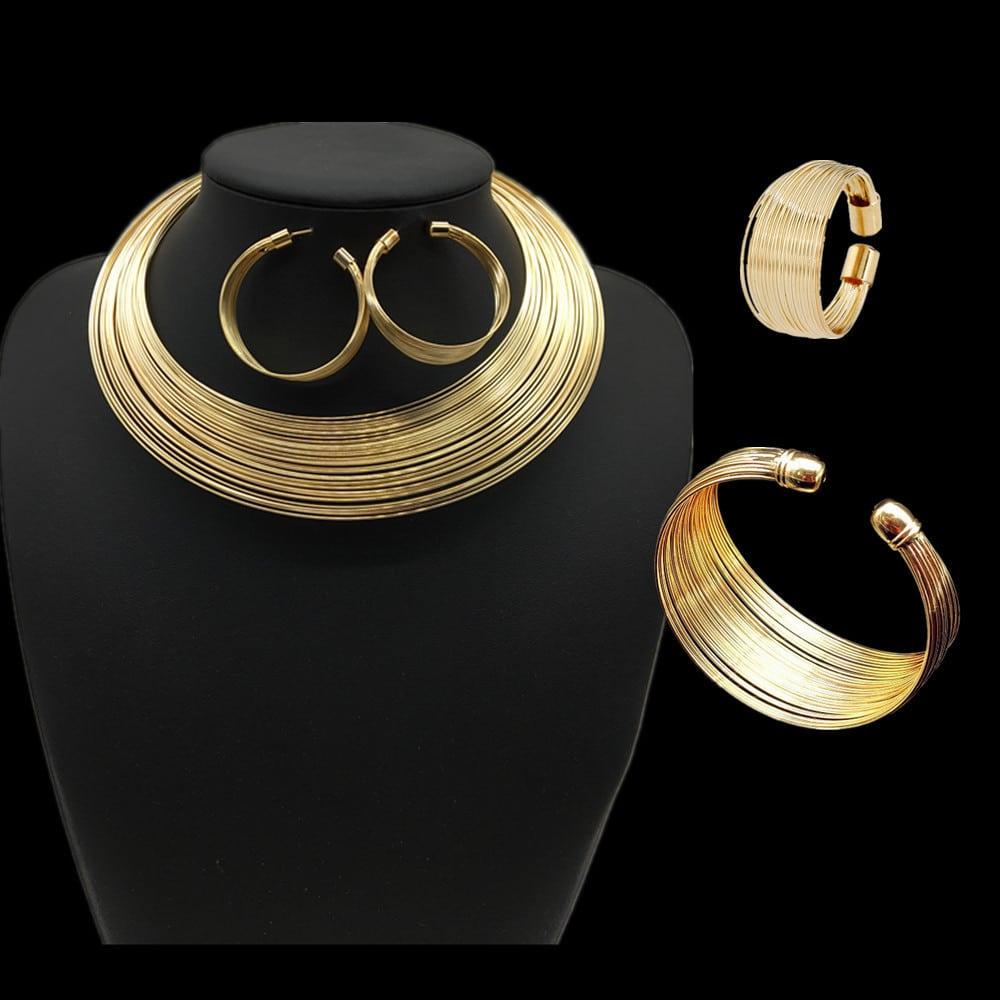 Nigeria bride Necklace Set multi alloy