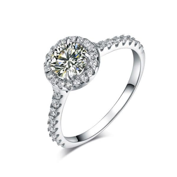 1 carat four claw diamond ring