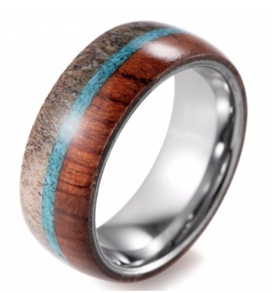 Tungsten man ring with dome