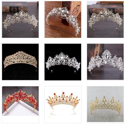 Luxury Crystal AB Bridal Crown
