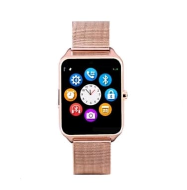 Smart watch metal steel with card call