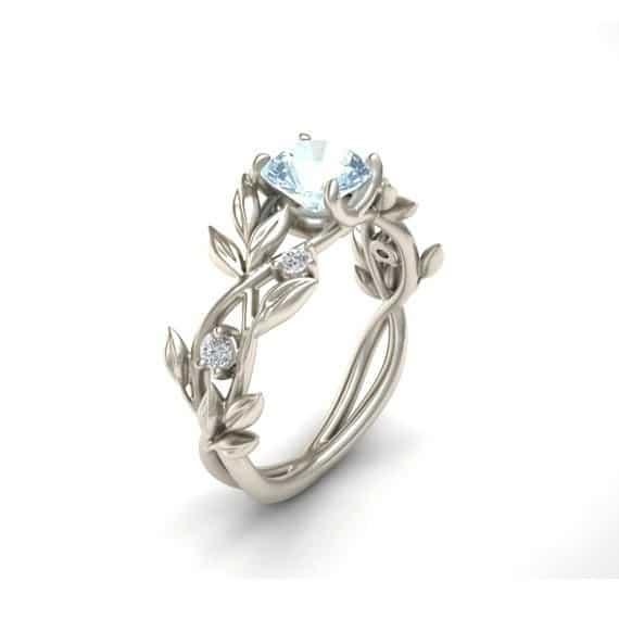 zircon jewelry Princess engagement ring