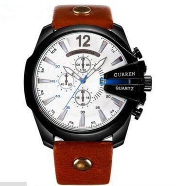 Large Dial Decorated Three-eye Men's Watch