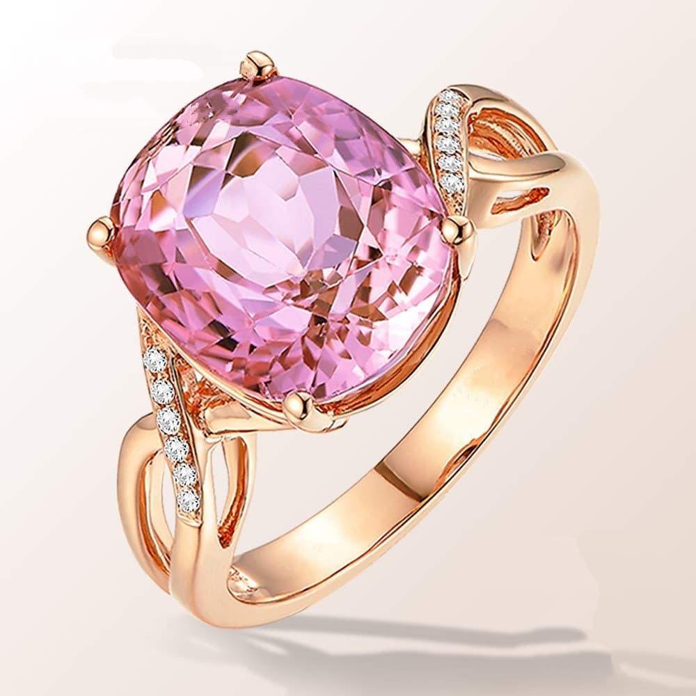 a natural pink tourmaline ring