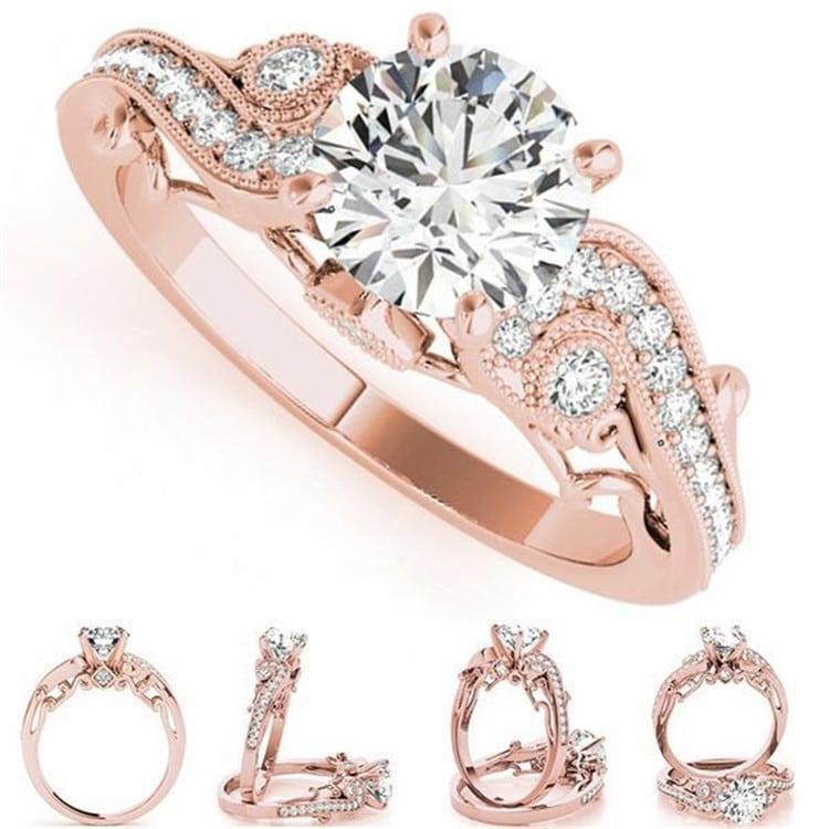 Princess engagement fashion ring