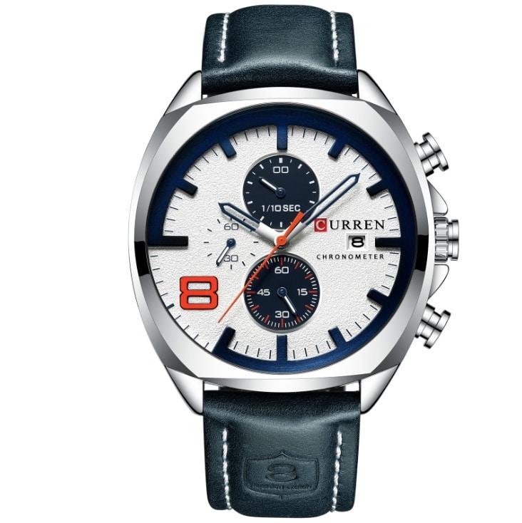 Curren new 8324 men's watch belt