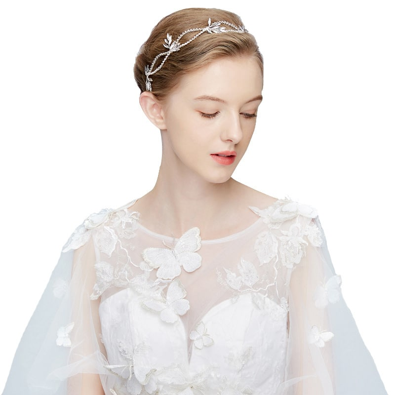 Korean bride headdress diamond hair