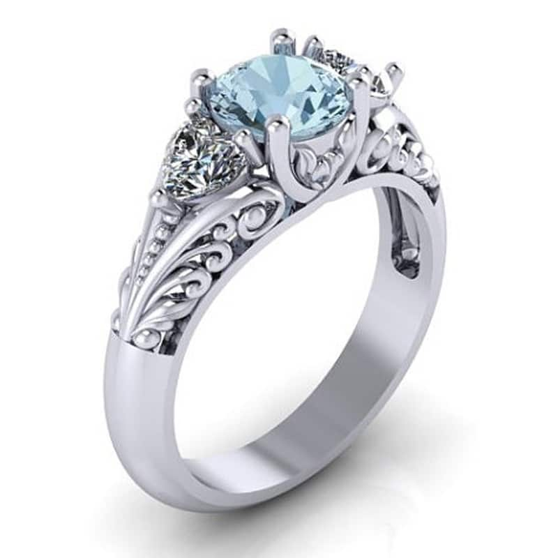 European and American sapphire ring