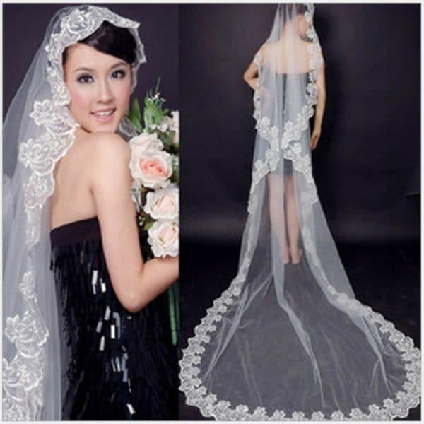 The bride wedding veil