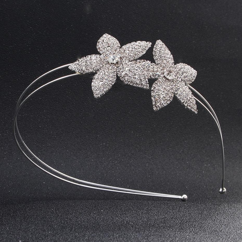 Rhinestone Tiara Crown Flower